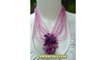 Purple Beading Fashion Necklaces with Stones