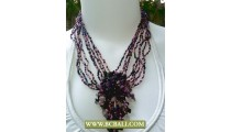 Chockers mix Squins Necklaces Fashion with Purple Stones