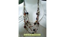 Multi Strand Ethnic Fashion Bead Necklace