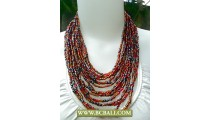 Multi Strand Coloring Beads Necklace