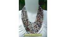 Multi Strand Necklaces Fashion Beaded Coloring