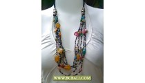 Bcbali Design Necklace Multi Strand Beaded