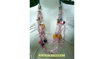 Bali 6 Layer Fashion Necklace Beading