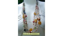 Fashion Multi Strand Beading Necklace