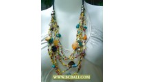 Unik Necklace Multi Strand Beaded