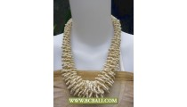 Cream Beading Chockers Necklaces Corn