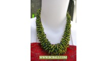 Green Chockers Squins Necklace Corn Fashion