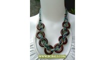 Mix Beading Necklaces Fashion with Wooden