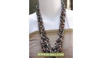 Multi Color Fashion Necklace Seed Beaded