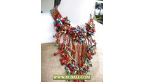 Beads Necklaces Mix Colors With Stone