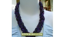 Beaded Seed Necklaces Fashion mix Colors