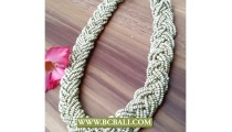 White Seed Beaded Necklaces Fashion