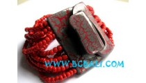 Bali Beads Bracelets Wood Buckles