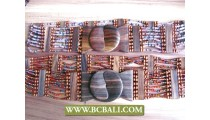 Bali Belt Beaded Wooden Claps