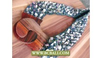 Bcbali Stretch Belts Beads Stone with Buckle Wooden