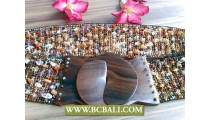 Beads mix Stone Belt Fashion Wooden Clasps
