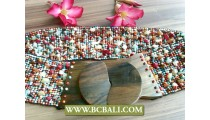 Stretching Beaded Stone Belt from Bali