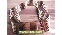 White Bead Belt Fashion Wooden Claps