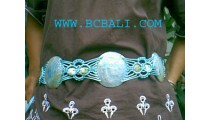 Belt With Shells Mother of Pearls Handmade