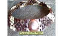 Bcbali Belt Coco Wooden with Buckle