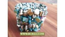 Beads Bracelets Elastic Shells ornament