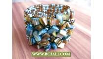 Bracelets Seed Bead Shells Ornament