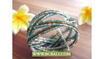 Classic Cuff Bracelets Multi Color Bali Style