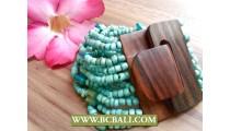 Classic Unique Design Bracelet Wood Clasps
