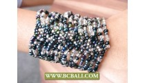 Expandable Seeds Multi Color Beading Elastic