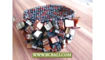 Hand Band Bracelets Stretch Beads Shells