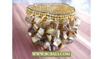 Hand Made Beading Bracelets Stretch Shells