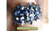Mix Colored Stone Beads Stretch Bracelets