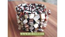 Multi Beaded Bracelet Shells Ornament