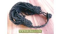Multi Seeds Expandable Beaded Bracelet clasps