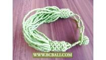 Multi Strands Expandable Beaded Bracelet for women