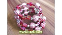 Spiral Rolling Bracelets with Beads Nuged