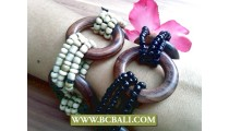 Stretching Bead Wooden Wired Bracelet Women