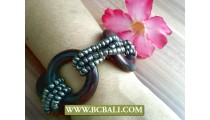 Stretching Bead Wooden Wrapted Bracelet Women