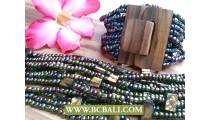 Unique Design Women Bracelets Wood Clasps
