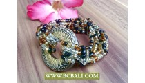 bracelets stretch beads wooden hand painted