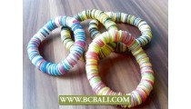 Mix Coloring Coco Button Stretch Bracelets