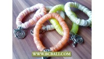 Seashells Bracelets Charm Stretch Solid Color