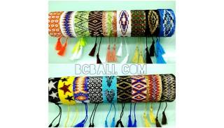 beaded crystal bracelets tassel handmade fashion