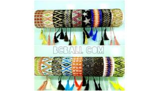 bracelets tassels crystal bead miyuki mix motif large