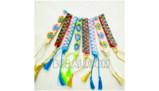 crystal miyuki beads bracelets tassels small size