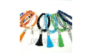 mix color crystal beads bracelets stretch