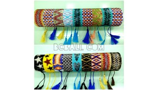 miyuki beads crystal tassels bracelets motif design