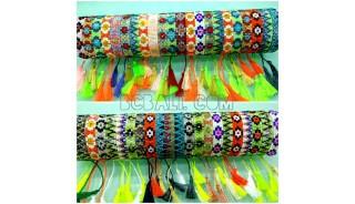tassel bracelets beads crystal miyuki motif small mix color