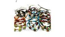 braids bracelets strings bead wood charms friendship