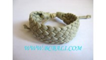 Hemp Bracelet Genuine Leather